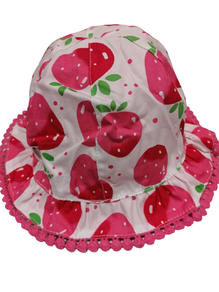 Chicco Bebe Καπέλο Διπλής Όψεως Για Κορίτσι Φράουλες, Ροζ
