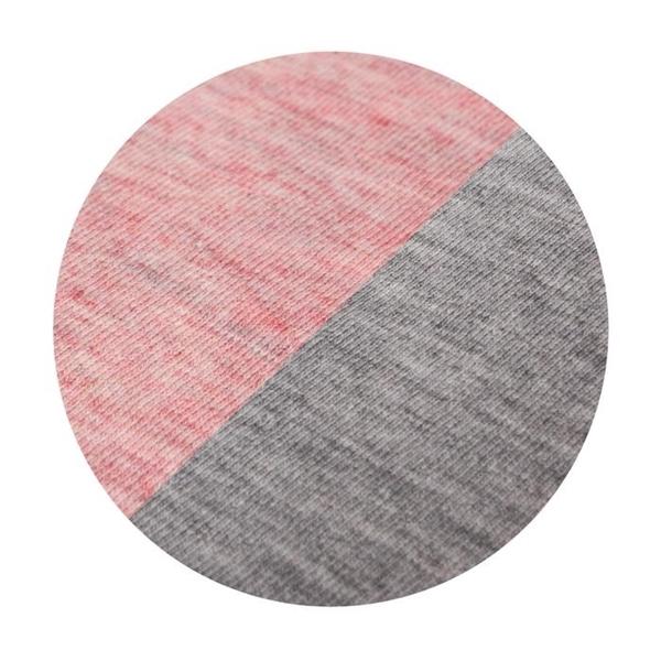 Ceba Baby Σεντόνι Καλαθούνας με Λάστιχο Light Grey/Pink 2τμχ
