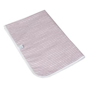 Καρφιτσωμένος Γάτος - Αδιαβροχο Κάλλυμα Αλλαγής - Stripe Dusty Pink 75x55 εκ.