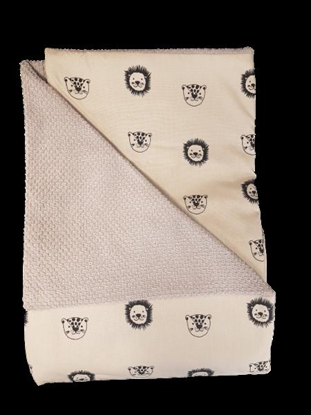 Καρφιτσωμένος Γάτος - Βρεφική Κουβέρτα Αγκαλιάς Πικέ Happy Friends
