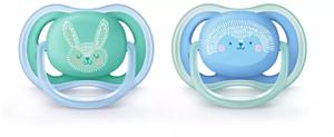 Philips Avent Πιπίλα Ultra Air, 6-18 μηνών+, Γαλάζιο-Πράσινο 2τμχ