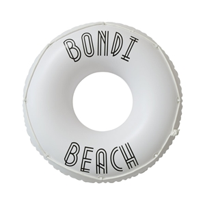 SunnyLife Φουσκωτό Δαχτυλίδι Bondi White