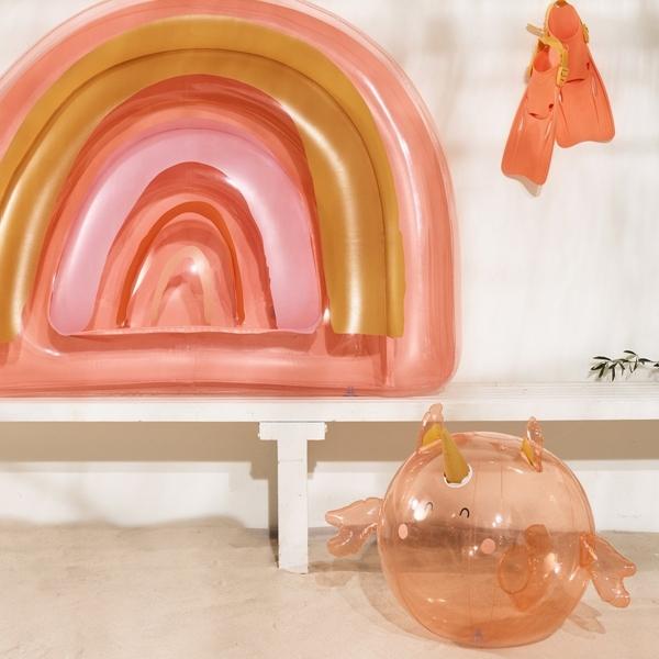 SunnyLife Φουσκωτή Μπάλα Seahorse Unicorn Peachy Pink