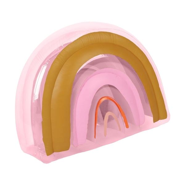 SunnyLife Φουσκωτό Ουράνιο Τόξο που Πετάει Νερό Rainbow Peachy Pink