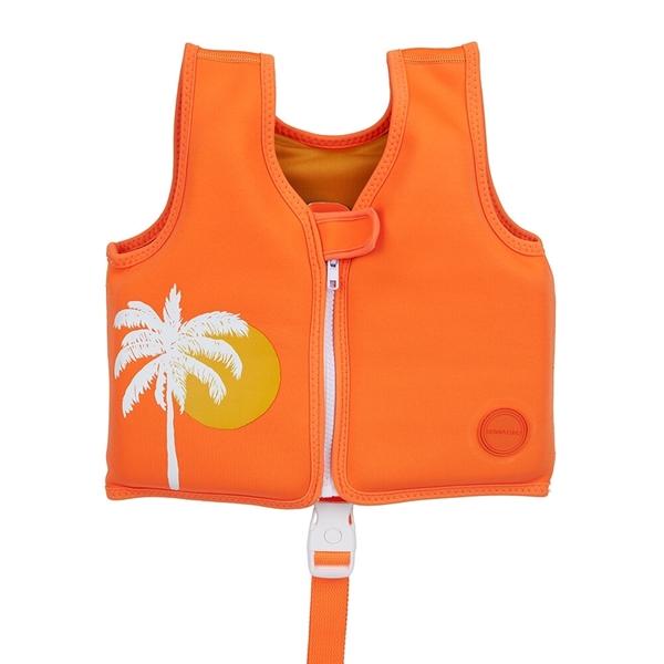 SunnyLife Γιλέκο Κολύμβησης 1-2 ετών Desert Palms Neon Pomelo