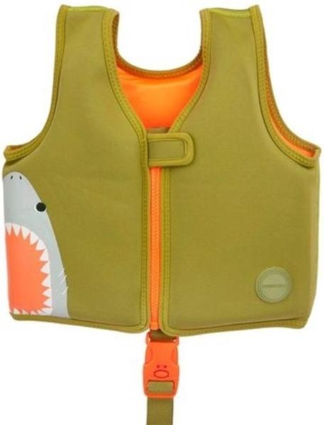 SunnyLife Γιλέκο Κολύμβησης 1-2 ετών Shark Attack Olive