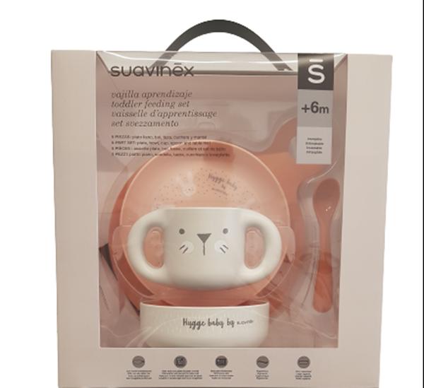Suavinex Παιδικό Σετ Φαγητού Feeding Set Girl Pink 6m+