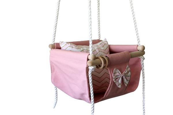 Kouniamou Κούνια Κρεμαστή Cotton Pink