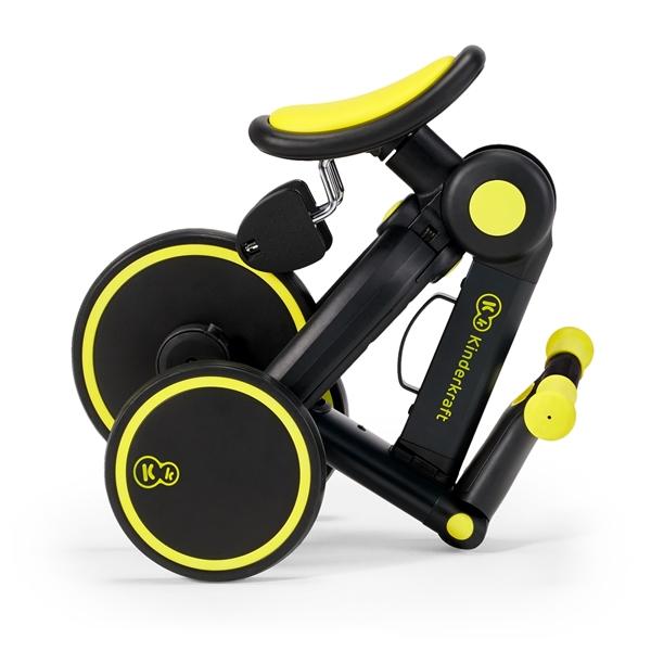 Kinderkraft Πτυσόμενο Τρίκυκλο Ποδήλατο 4Trike, Black Volt