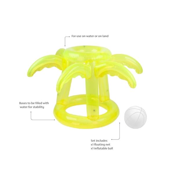 SunnyLife Φουσκωτό Παιχνίδι Μπάσκετ Float Away Basketball Set Tropical