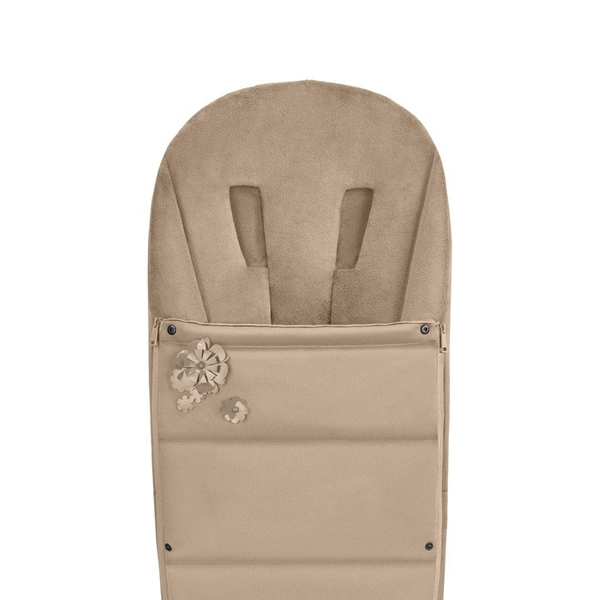 Picture of Cybex Platinum Footmuff Ποδόσακος καροτσιού Simply Flowers Nude Beige