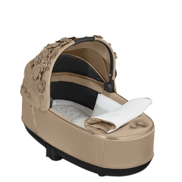 Cybex Lux Carry Cot for Priam - Simply Flowers - Nude Beige