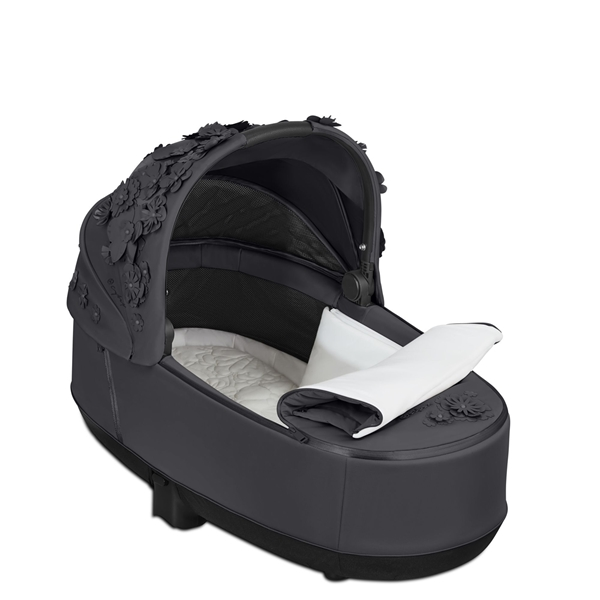 Cybex Lux Carry Cot for Priam - Simply Flowers - Dream Grey