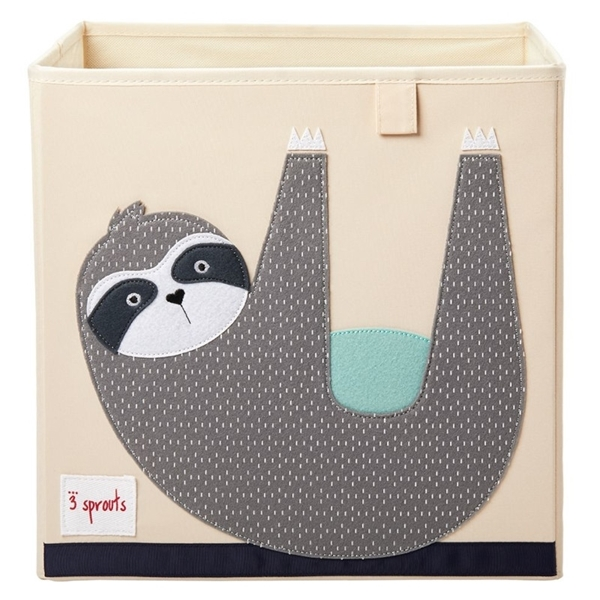 3 sprouts Καλάθι Για Παιχνίδια Τετράγωνο - Sloth