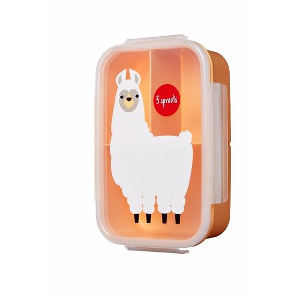 3 Sprouts Φαγητοδοχείο Lunch Bento Box, Llama