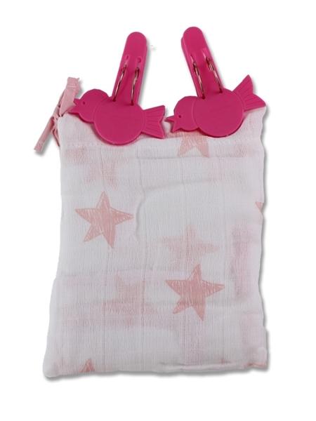 Minene Ηλιοπροστασία UV καροτσιού Ροζ Αστέρια