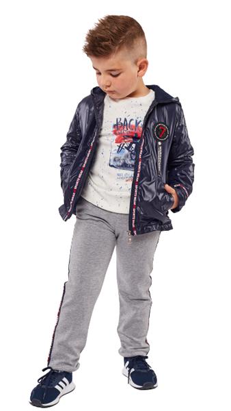 Hashtag Παιδικό Σετ 3 Τμχ Φόρμας Αντιανεμικό Μπουφάν,Μπλούζα Και Παντελόνι 7 ,Μπλέ
