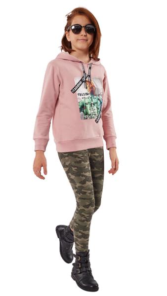 Εβίτα Fashion Σετ Παιδικό Φούτερ Μπλούζα Με Κολάν Telegraph, Ροζ