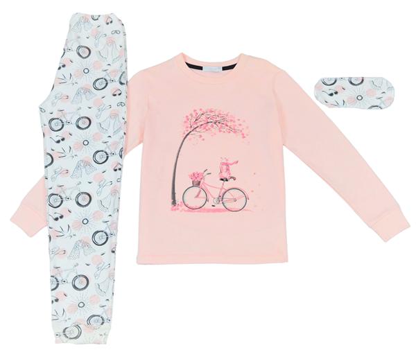 Εβίτα Fashion Hommies Πυτζάμα Για Κορίτσι Ποδήλατο,Ροζ