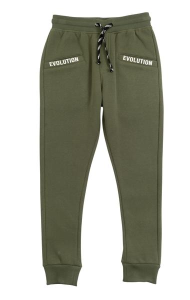 Funky Εφηβικό Παντελόνι Φόρμας Φούτερ Για Αγόρι Evolution, Χακί