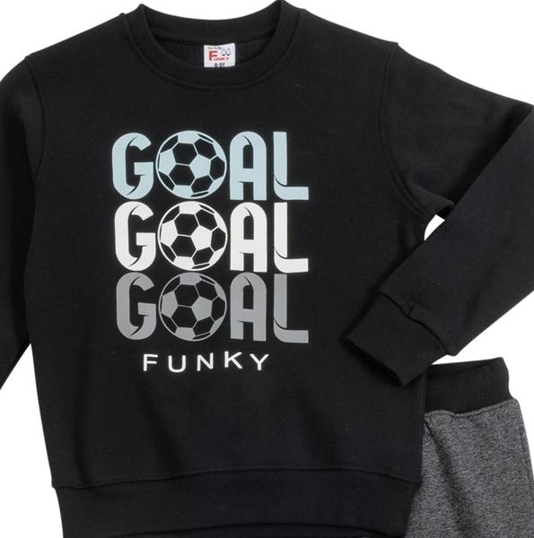 Funky Σετ Φόρμας Για Αγόρι Goal, Μαύρο