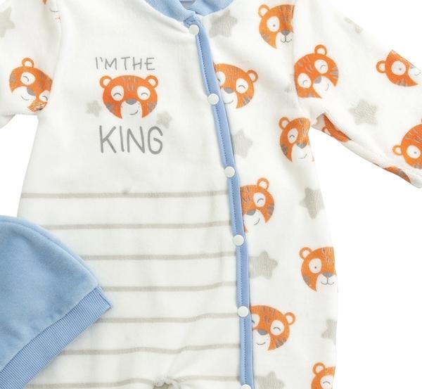 Funky Φορμάκι Με Σκουφί Για Αγόρι Tiger King, Σιέλ