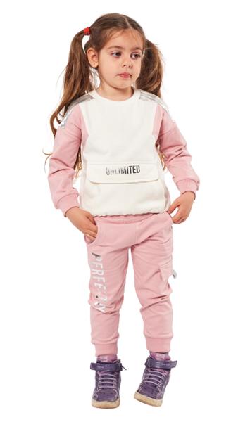 Εβίτα Fashion Παιδικό Σετ Φόρμας Unlimited, Ροζ