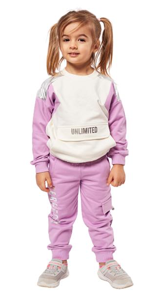 Εβίτα Fashion Παιδικό Σετ Φόρμας Unlimited, Λιλά