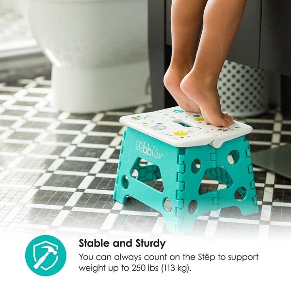 bbluv Step Stool Αναδιπλούμενο Σκαλάκι Aqua