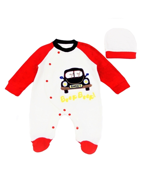 Ebita Fashion Mini Βελουτέ Φορμάκι Για Αγόρι Αυτοκίνητο, Κόκκινο
