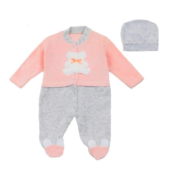 Ebita Fashion Mini Βελουτέ Φορμάκι Για Κορίτσι Αρκουδάκι, Ροζ