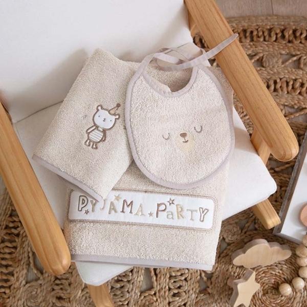 FunnaBaby Σετ Πετσέτες Μπάνιου και Σαλιάρα Pyjama