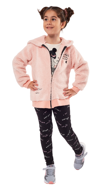 Εβίτα Fashion Παιδικό Σετ 3 Τμχ Ζακέτα, Μπλούζα Και Κολάν Paradise, Ροζ