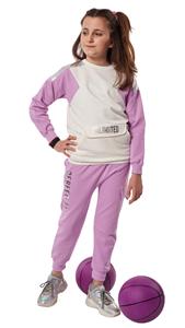 Εβίτα Fashion Σετ Φόρμας Με Μπροστινή Τσέπη Unlimited , Λιλά