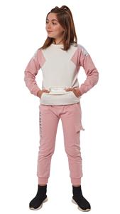 Εβίτα Fashion Σετ Φόρμας Με Μπροστινή Τσέπη Unlimited , Ροζ