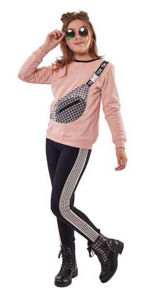 Εβίτα Fashion Σετ Με Κολάν Και Μπλούζα Τσαντάκι, Ροζ