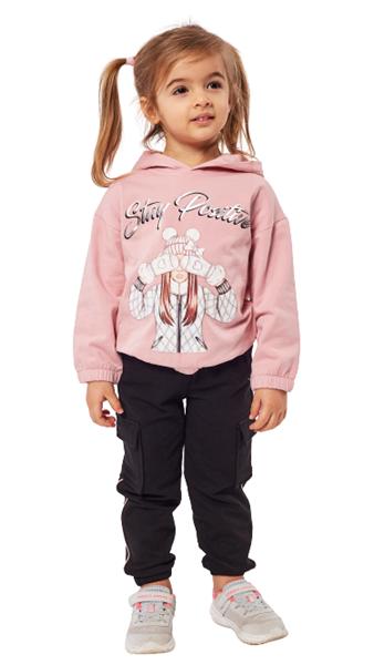 Εβίτα Fashion Παιδικό Σετ Φόρμας Stay Positive, Ροζ