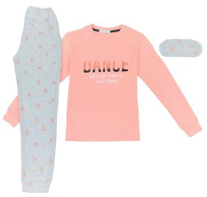 Εβίτα Fashion Hommies Πυτζάμα Για Κορίτσι Καρδιές Με Μάσκα Νυκτός Dance, Ροζ