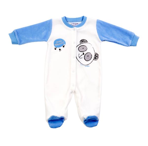 Trax Φορμάκι Βελουτέ Για Νεογέννητο Αγόρι Αρκουδάκι, Εκρού