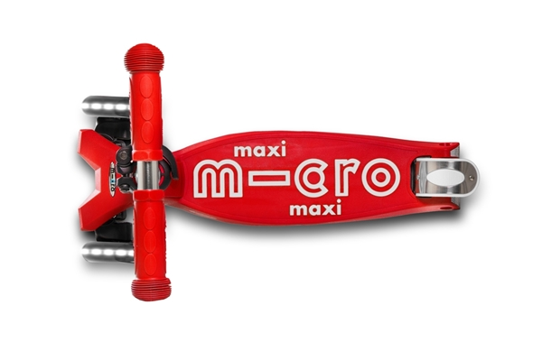 Micro Maxi Deluxe LED - Παιδικό Πατίνι Red