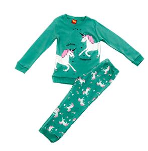Trax Παιδική Πυτζάμα Για Κορίτσι Μονόκερος, Πράσινο