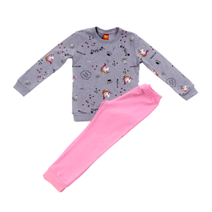 Trax Παιδική Πυτζάμα Για Κορίτσι Μονόκερος, Γκρί