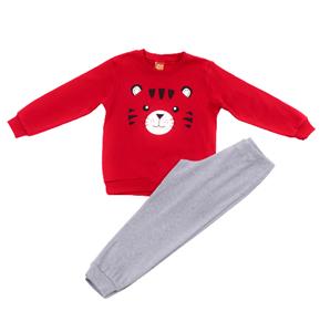 Trax Παιδική Πυτζάμα Για Αγόρι Τιγράκι, Κόκκινο