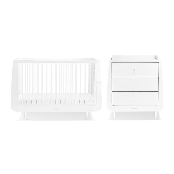 Snuz Βρεφικό Δωμάτιο SnuzCot Skandi - White