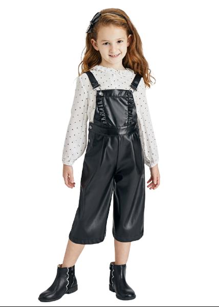 Mayoral Παιδική Μπλούζα Πόλο Μακρυμάνικη Για Κορίτσι, Εκρού