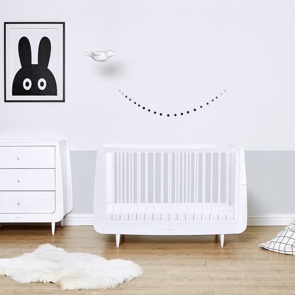 Picture of Snuz Βρεφικό Δωμάτιο SnuzCot Skandi - White