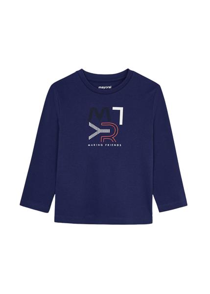 Mayoral Παιδική Μπλούζα Βασική ECOFRIENDS Για Αγόρι, Μωβ Μπλέ