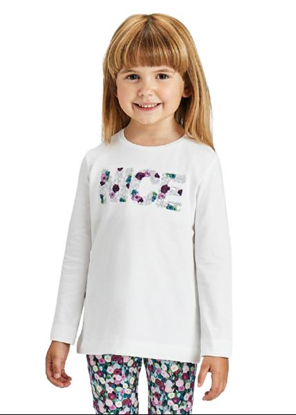 Mayoral Παιδική Μπλούζα ECOFRIENDS Nice Για Κορίτσι, Εκρού