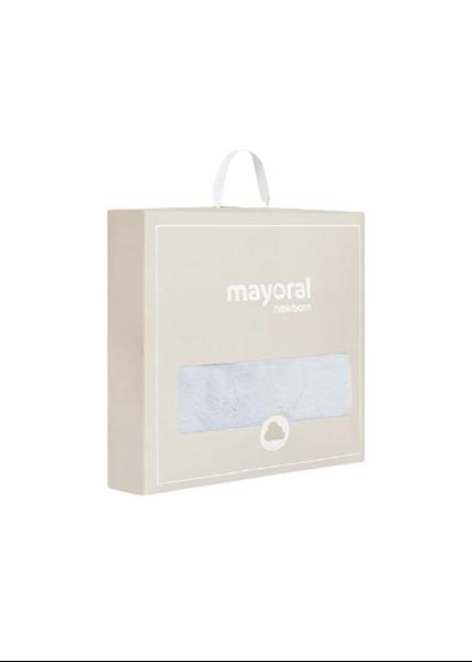 Mayoral Κουβέρτα Με Γουνάκι Διπλής Όψεως, Σιέλ