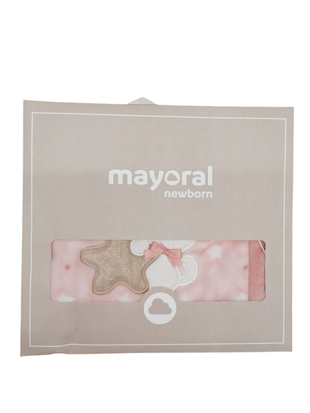 Mayoral Κουβέρτα Με Γουνάκι Αρκουδάκι, Ροζ